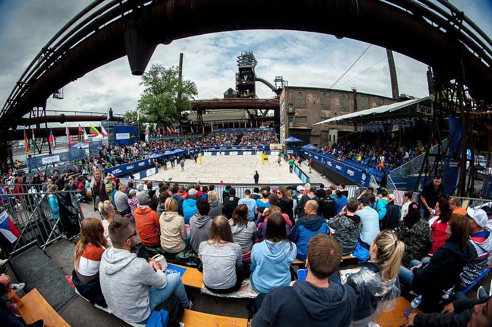Turnaj Světového okruhu v plážovém volejbalu - semifinále, 24. června 2018 v Ostravě.