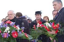 Prezident Václav Klaus přijel do Vítkova uctít památku Jana Zajíce.