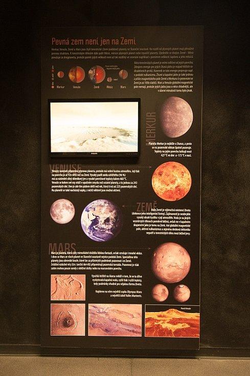 Expozice v ostravském planetáriu.