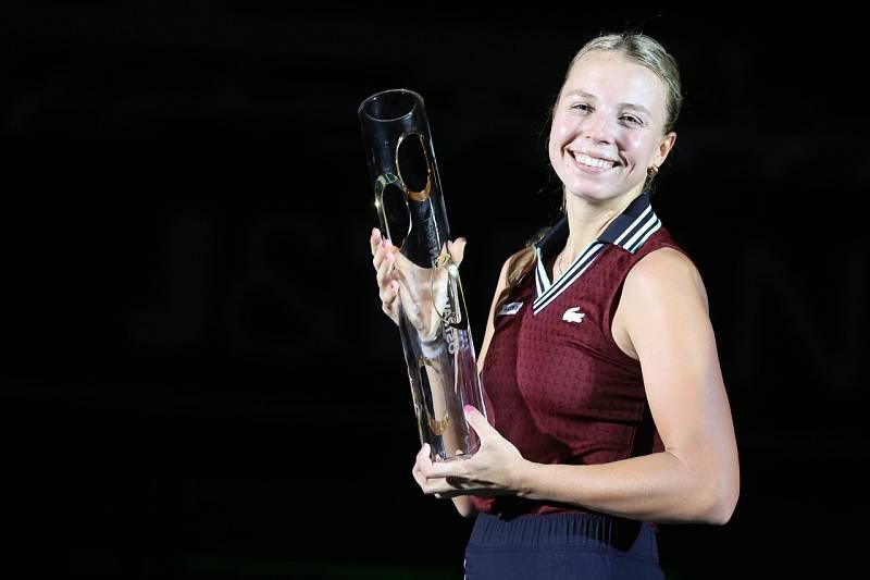Vítězkou tenisového turnaje v Ostravě se stala Estonka Anett Kontaveitová.