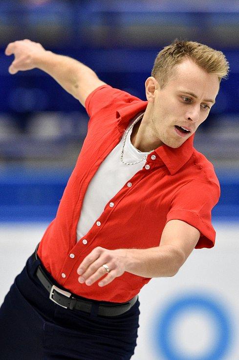 Mezinárodní mistrovství ČR v krasobruslení v Ostravar Aréně, 13. prosince 2019 v Ostravě. Na snímku Michal Březina.