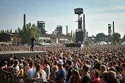 Mig 21 v Ostravě, festival Colours of Ostrava 2018 v Dolní oblasti Vítkovice.