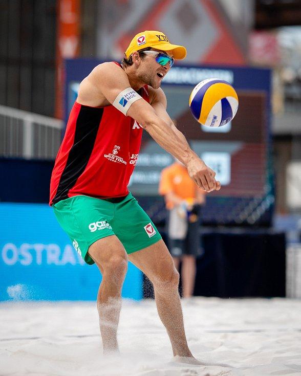 J&T Banka Ostrava Beach Open, 5. června 2021 v Ostravě. Robin Seidl (AUT).
