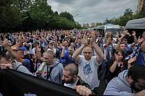 Pochod fanoušku Baníku v Karviné, sobota 19. května 2018.