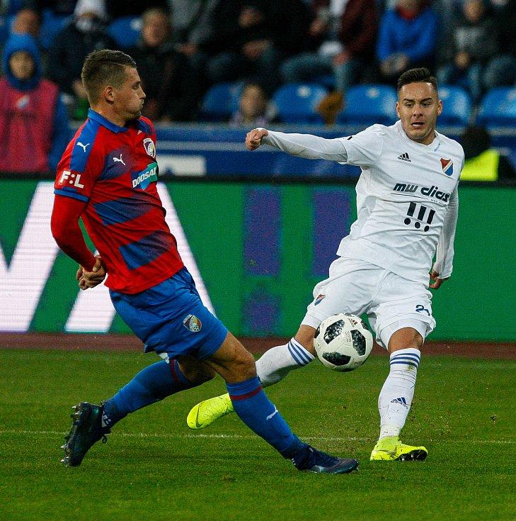 FC Baník Ostrava - FC Viktoria Plzeň, vpravo Daniel Holzer