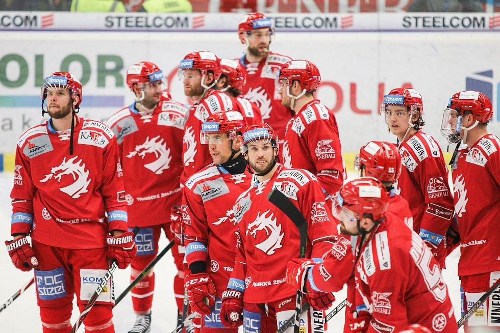 Čtvrtfinále play off hokejové extraligy - 3. zápas: HC Vítkovice Ridera - HC Oceláři Třinec, 24. března 2019 v Ostravě.