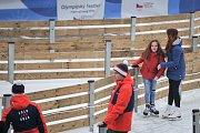 Olympijský festival u Ostravar Arény, 9. února 2018 v Ostravě.