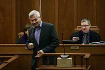 Ve středu u Krajského soudu v Ostravě pokračovalo hlavní líčení s ostravským lobbistou Martinem Dědicem. Na snímku bývalý primátor Petr Kajnar.