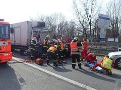 Středeční nehoda v Ostravě-Porubě.