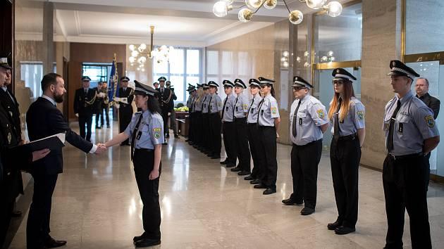 Slib nových strážníku Městské policie Ostrava, 7. března 2019 v Ostravě.