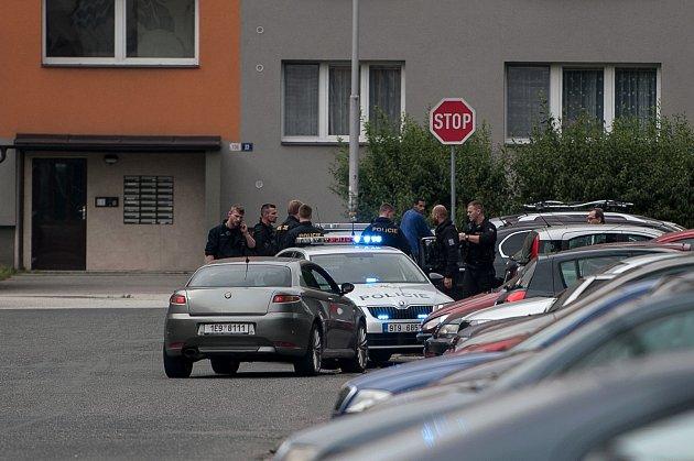 Dopadení ujíždějícího řidiče policisty v ostravské části Dubina, 27. června 2018. Ilustrační foto.