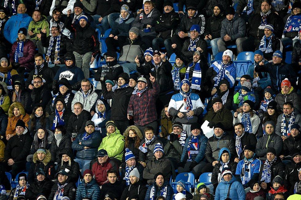 Utkání 20. kola první fotbalové ligy: Baník Ostrava - Sparta Praha, 14. prosince 2019 v Ostravě. Na snímku fanoušci.