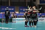 Pohár mistrů ve florbalu, o 3. místo (ženy): 1. SC Vítkovice - SB-Pro Nurmijarvi, 12. ledna 2020 v Ostravě. Na snímku radost Nurmijarvi.