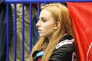 Čtvrtfinále play off hokejové extraligy - 3. zápas: HC Vítkovice Ridera - HC Oceláři Třinec, 24. března 2019 v Ostravě. Na snímku fanoušci Třince.
