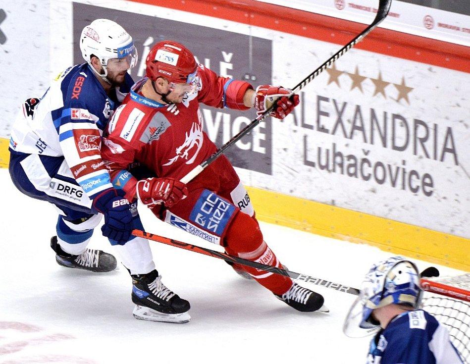 Utkání 14. kola hokejové extraligy Oceláři Třinec - Kometa Brno.