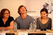 Marek Holý na tiskové konference k Letním shakespearovským slavnostem v roce 2010.
