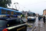 Páteční nehoda v Hrabůvce.