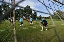 Fotbalový klub Stará Bělá, 10. července 2020 v Ostravě. Během tréninku.