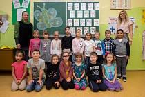 Základní škola a mateřská škola Ostrava-Hrabůvka, Krestova 36A, září 2019 v Ostravě. Na snímku třída I.A.