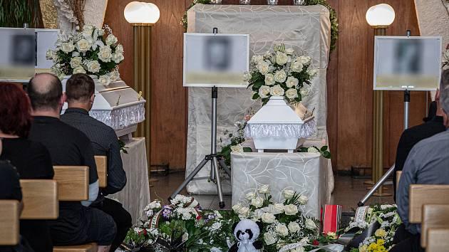 Pohřeb obětí požáru z Bohumína, 24. srpna 2020 v Ostravě.