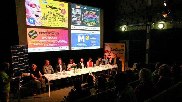 Tisková konference k festivalu Colours of Ostrava, 21. června v Ostravě.