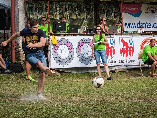 Soutěž o penaltového krále 2017 na Hukvaldech - vítěz Adam Rimel.