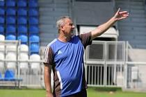Frýdecko-místecký trenér Vladimír Goff při úterním tréninku.