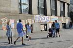 Ulice Ostravy zaplavily nápisy v ulicích. Město si připomíná 50 let od okupace