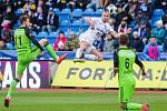Utkání 25. kola první fotbalové ligy: FC Baník Ostrava - FK Mladá Boleslav, 16. března 2019 v Ostravě. Na snímku (zleva) Nikolay Komlicheyko, Denis Granečný, Dominik Mašek.