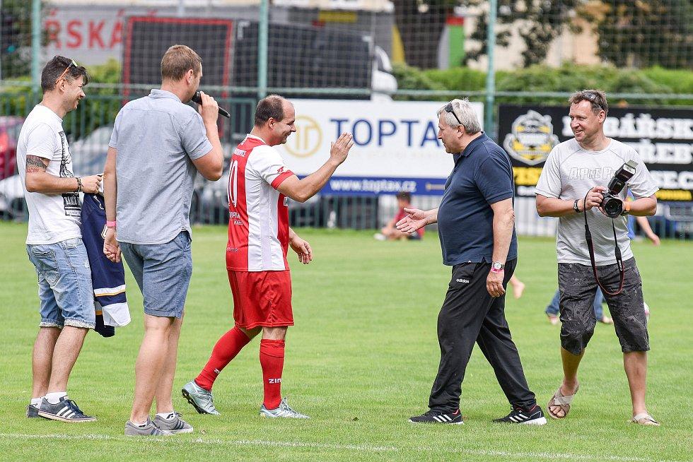 Charitativní zápas v Markvartovicích, 12. července 2020.