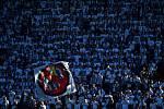 Utkání 29. kola první fotbalové ligy: FC Baník Ostrava - Slezský fotbalový klub Opava, 21. dubna 2019 v Ostravě. Na snímku fanoušci Baníku.