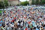 Demonstrace nájemníků bytů RPG Real Estate, která se uskutečnila v Ostravě-Porubě