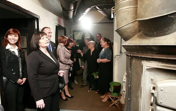 Manželka prezidenta České republiky Ivana Zemanová při návštěvě Moravskoslezského kraje si prohlédla také Liskovu vilu ve Slezské Ostravě