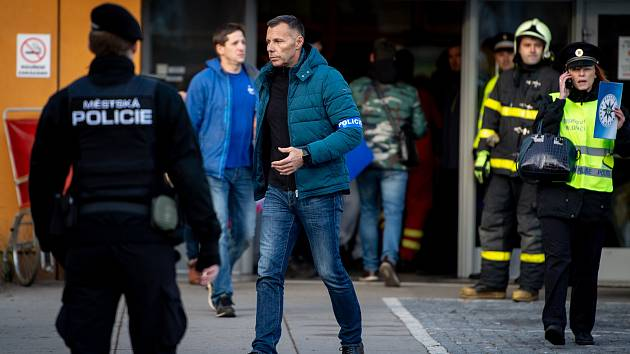Tomáš Kužel na snímku ze zásahu policie ve Fakultní nemocnici Ostrava po střelbě 10. prosince 2019.
