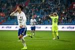 Utkání 16. kola fotbalové Fortuna ligy: FC Baník Ostrava - MFK Karviná, 8. listopadu 2019 v Ostravě. Na snímku zleva Jakub Pokorný.