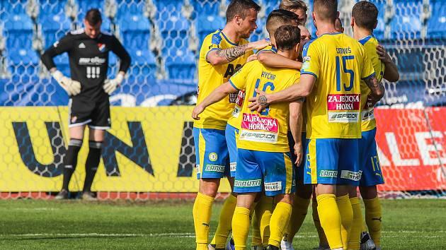 Utkání 27. kola první fotbalové ligy: FC Baník Ostrava - FK Teplice, 7. dubna 2019 v Ostravě.