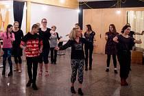 Folklorní tančírna v kulturním centru Cooltour, leden 2019.