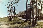 Horní stanice lanovky z Trojanovic na Pustevny v roce 1980.