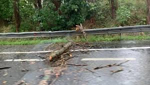 Následky bouřky v Ostravě