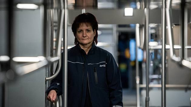 Řidička tramvaje DPO Iveta Kurečková.