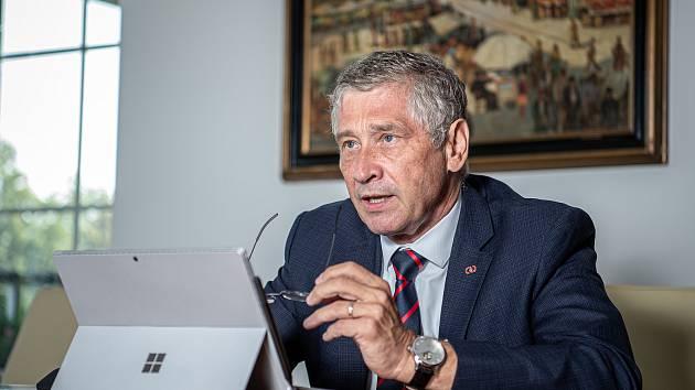 Hejtman MS kraje Ivo Vondrák při rozhovoru pro Deník, srpen 2020 v Ostravě.