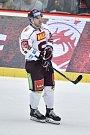 Utkání 9. kola hokejové extraligy: HC Oceláři Třinec - HC Sparta Praha, 12. října 2018 v Třinci. Na snímku Andrej Kudrna.