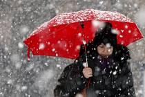 Sněhová nadílka v Ostravě.