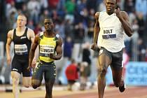 Usain Bolt při čtvrtečním závodu
