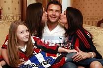 Manželka Jana i dcery Karolína a Kristýna přijdou vyprovodit Marka Jankulovského k poslednímu utkání na vyprodaných Bazalech.