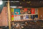 Místo nehody na snímku za sociální sítě Facebook, skupiny Kde stojí švestky - Ostrava a okolí.