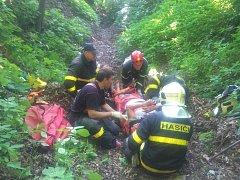 Záchrana muže v Chlebovicích.