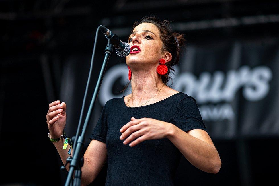 Hudební festival Colours of Ostrava 2019 v Dolní oblasti Vítkovice, 19. července 2019 v Ostravě. Na snímku skupina San Savlvádor.