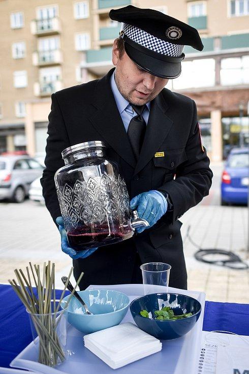 Akce Linkou na drink v Ostravě-Porubě, 28. září 2019.