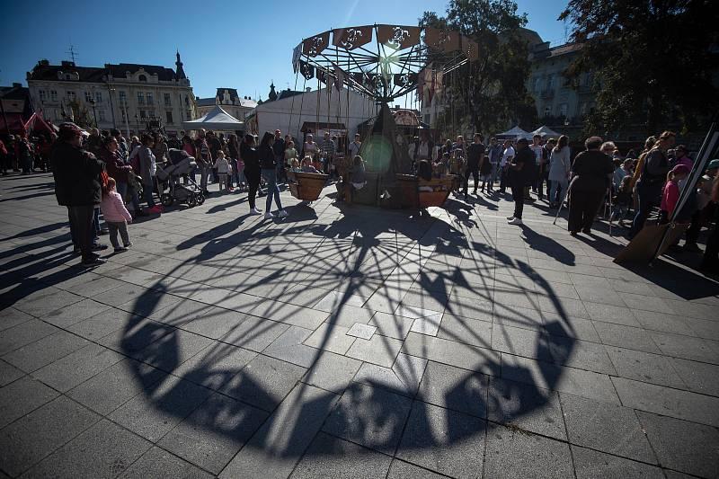 Svatováclavský jarmark na náměstí Svatopluka Čecha, 28. zaří 2018 v Ostravě.